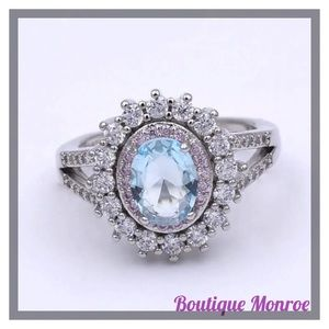 Jewelry - Gorgeous Sterling Silver Aquamarine Ring
